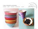 Skärmdump på Lena Eriksson Keramik webbsida